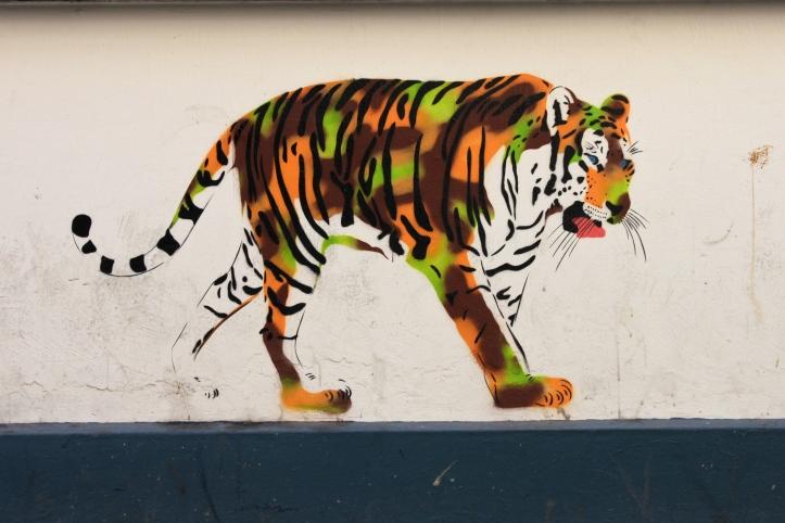Street art - Mosko et associés - Tigre - Rue Biot - 75017