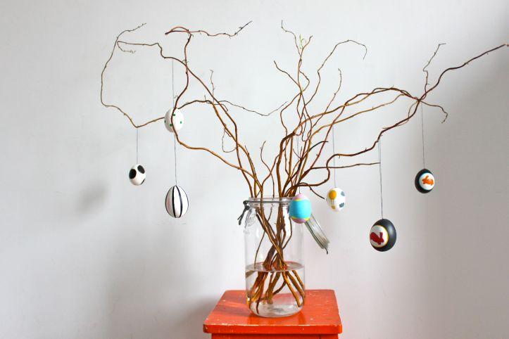 DIY arbre de Paques - Osterbaum - oeufs de Paques