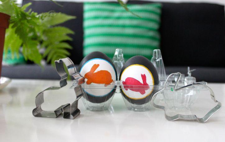DIY oeufs de Paques peints lapins de Paques