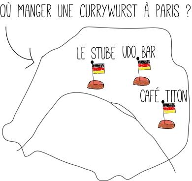 Où manger une currywurst à Paris