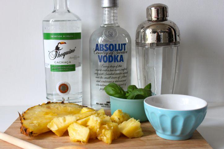 Recette caipirinha caipifruta ananas basilic