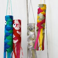 "DIY : carpes volantes japonaises ou ""koinobori"" !"