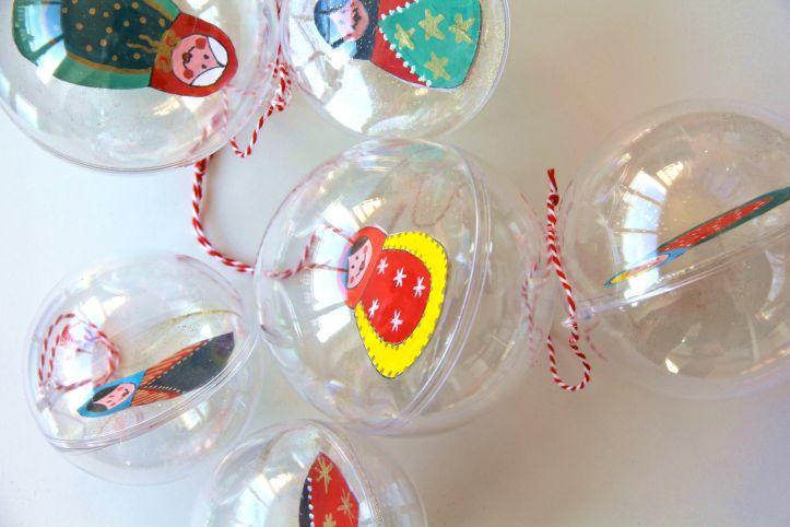 DIY:Boules de Noël Poupées Russes1