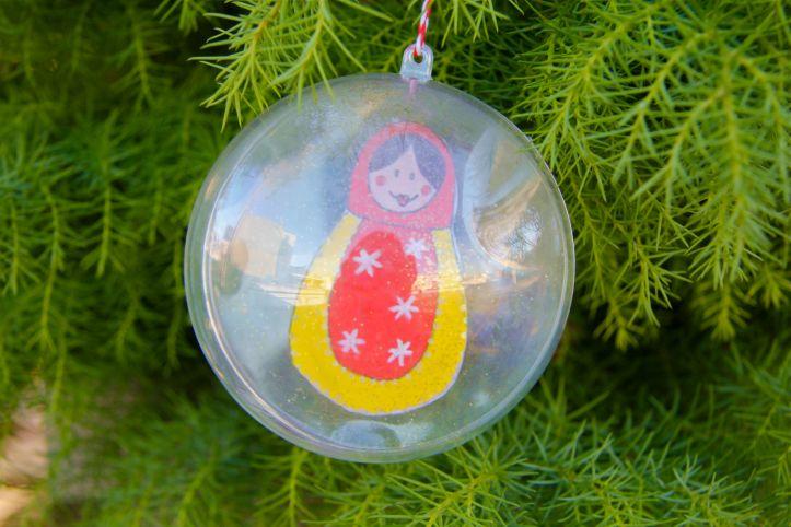 DIY:Boules de Noël Poupées Russes3