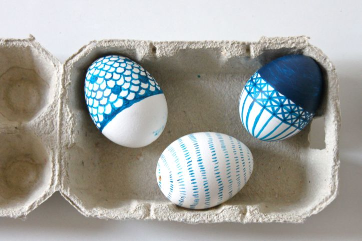 DIY oeufs de Paques - motifs japonais 2