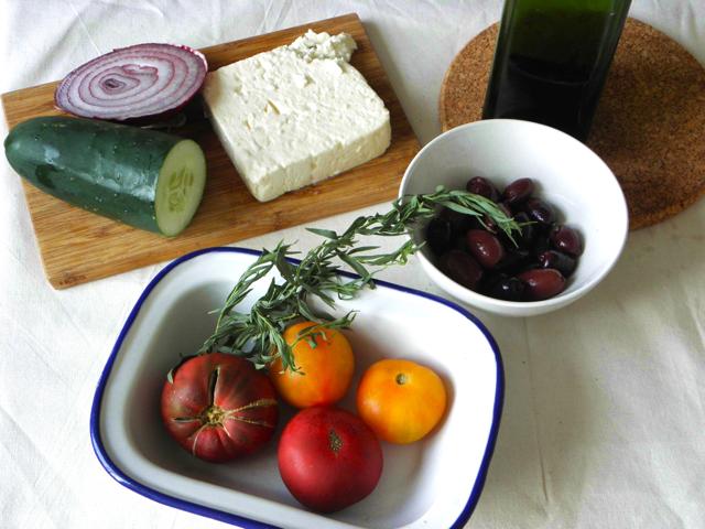 Recette de salade grecque ou Khoriatiki  1