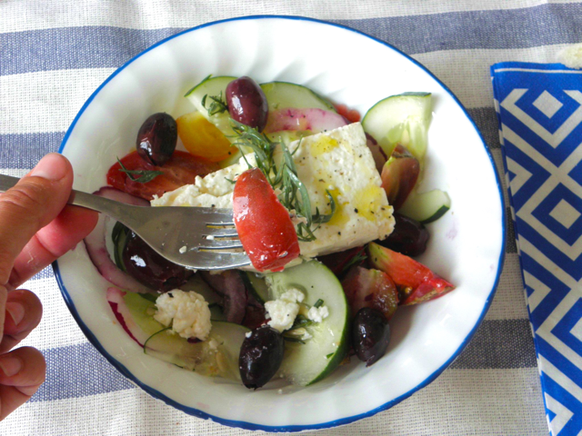 Recette de salade grecque ou Khoriatiki  3