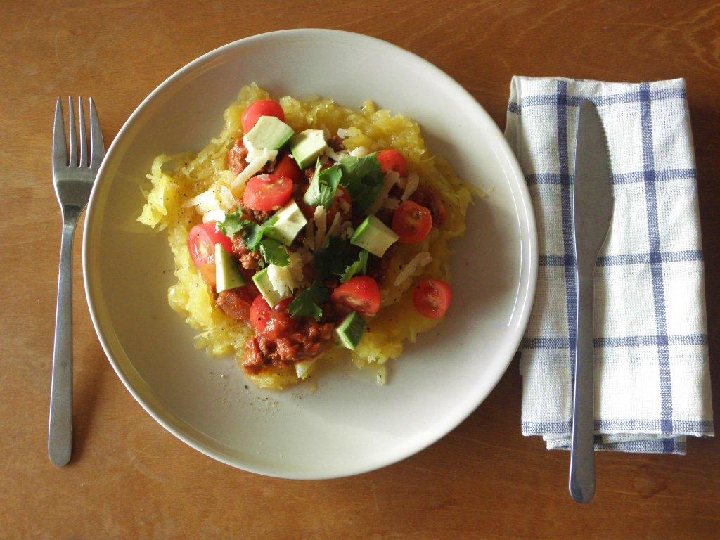 Recette d automne la courge spaghetti de la nouvelle angleterre so many paris - Comment cuisiner courge spaghetti ...