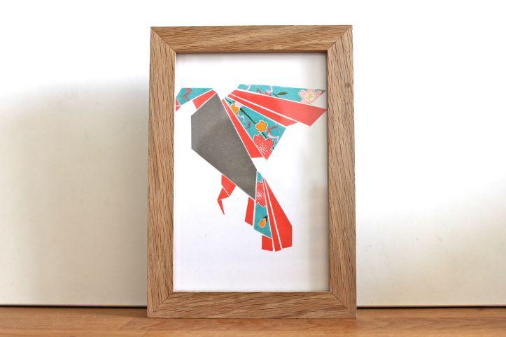 Cadre origami plat DIY 1