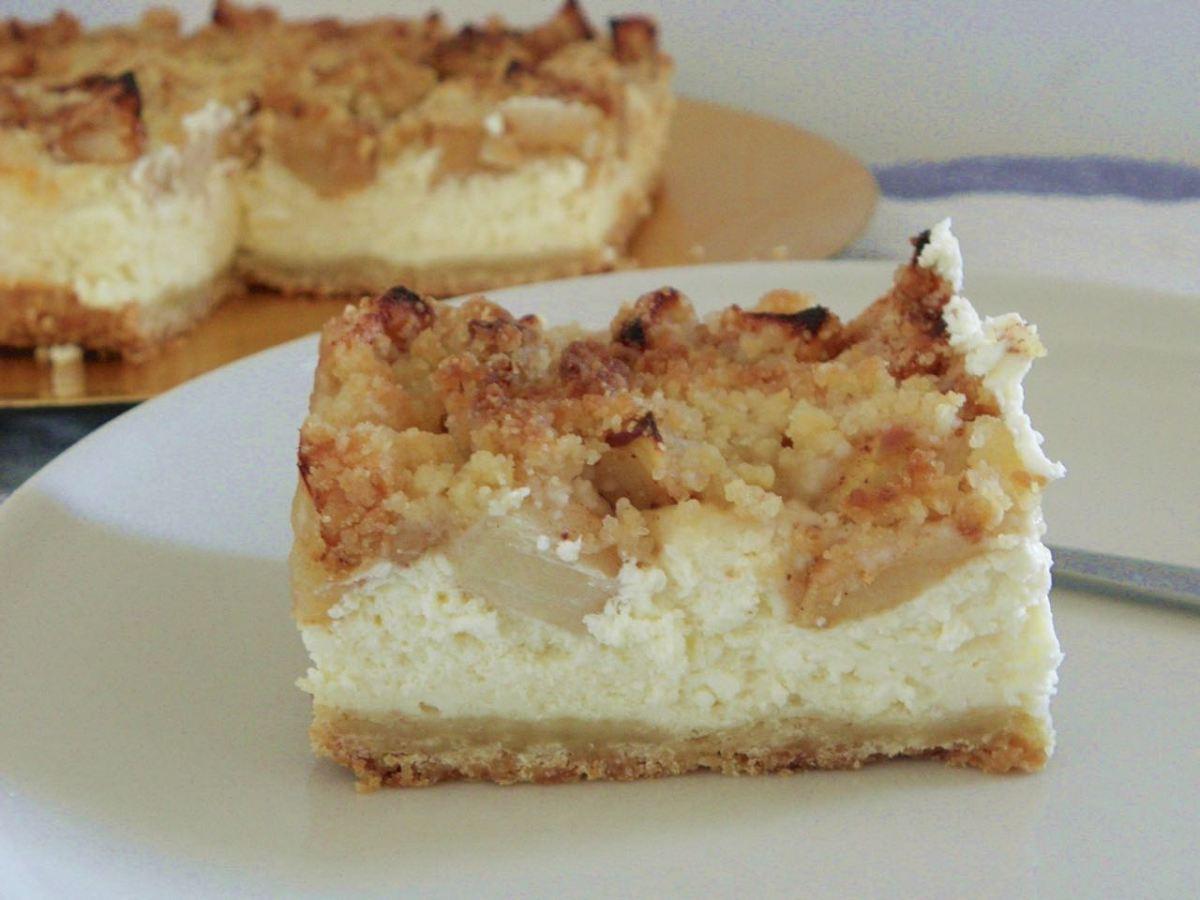 la recette de l apple crumble cheesecake un d lice. Black Bedroom Furniture Sets. Home Design Ideas