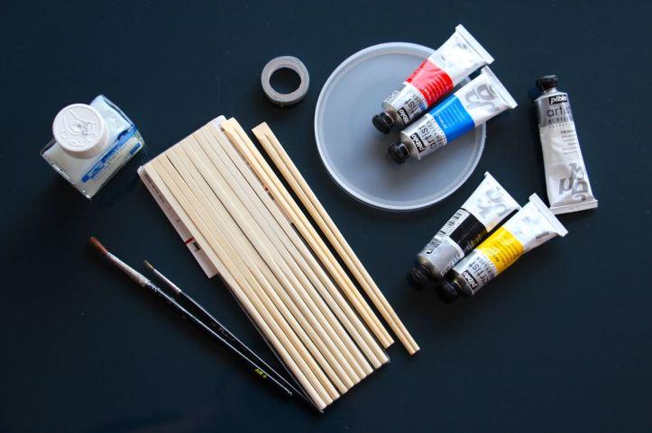DIY baguettes peintes1