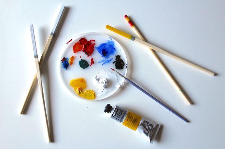 DIY baguettes peintes3