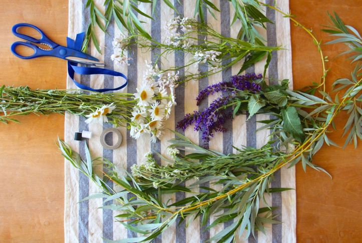 DIY Couronne fleurs Midsommar1