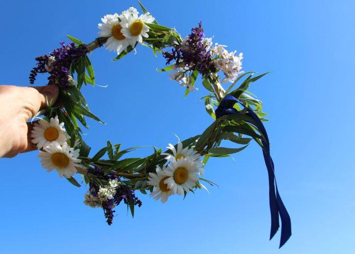 DIY Couronne fleurs Midsommar11