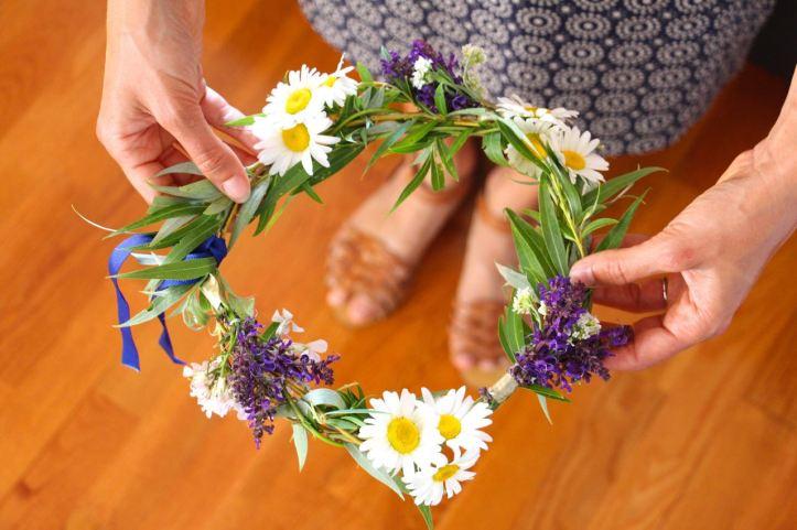 DIY Couronne fleurs Midsommar12