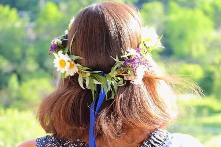 DIY Couronne fleurs Midsommar13