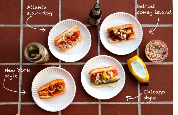 Hot-dogs styles