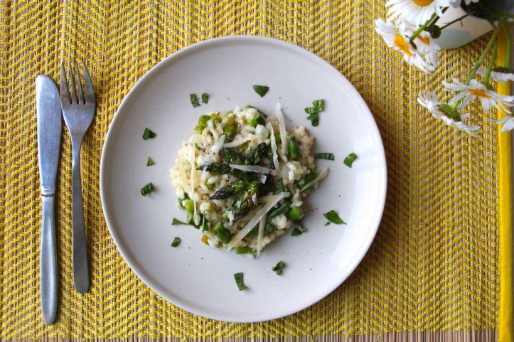 Recette risotto asperges petits pois3