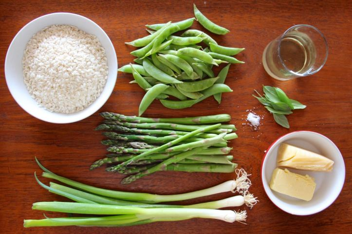 Risotto asperges petits pois1