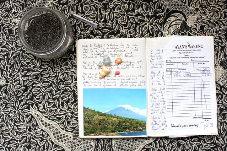 Carnet de voyage - offrandes de Bali 07