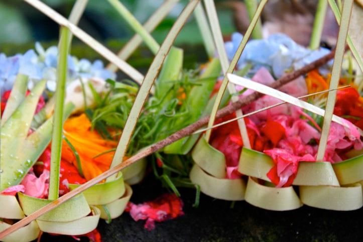 Carnet de voyage - offrandes de Bali 13