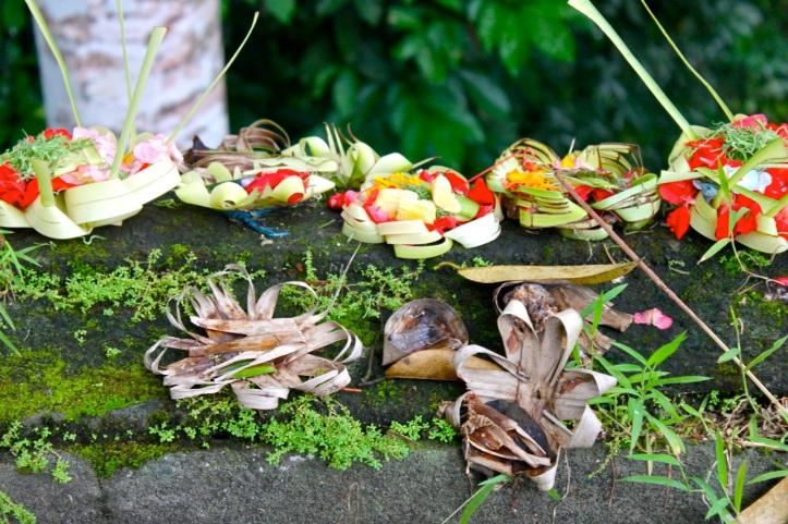 Carnet de voyage - offrandes de Bali 15
