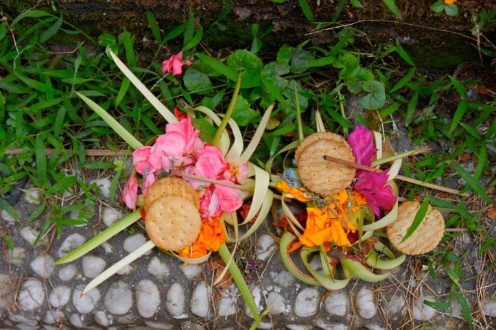 Carnet de voyage - offrandes de Bali 18