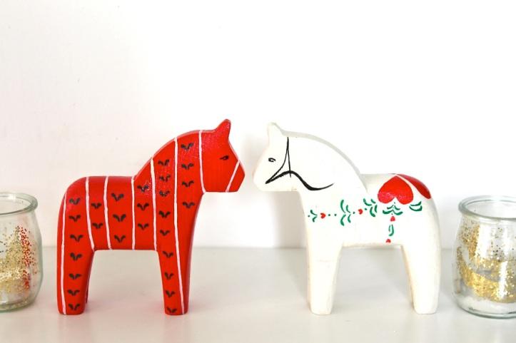 DIY peinture chevaux suedois Dalahastar  1