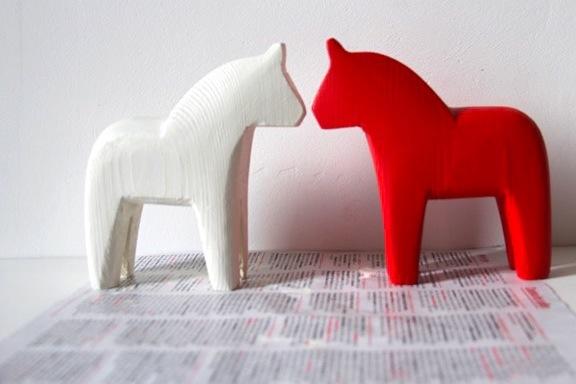 DIY peinture chevaux suedois Dalahastar    2