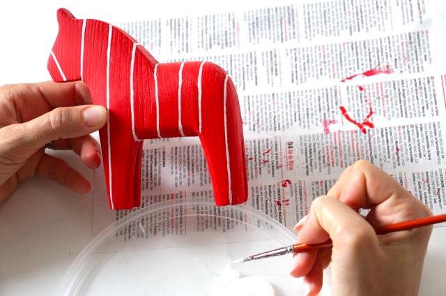 DIY peinture chevaux suedois Dalahastar    3