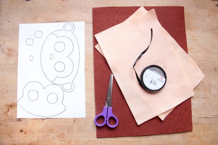 DIY Masque Singe en feutre - 1