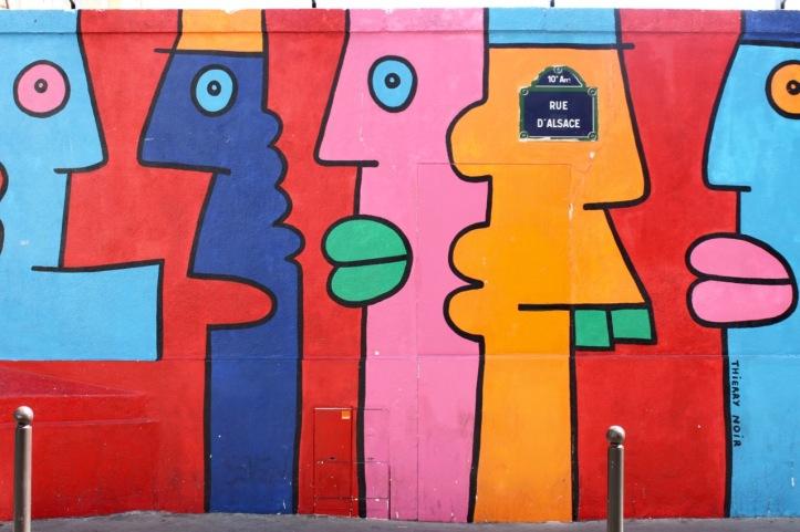 Mur de Berlin rue d Alsace Paris - 1