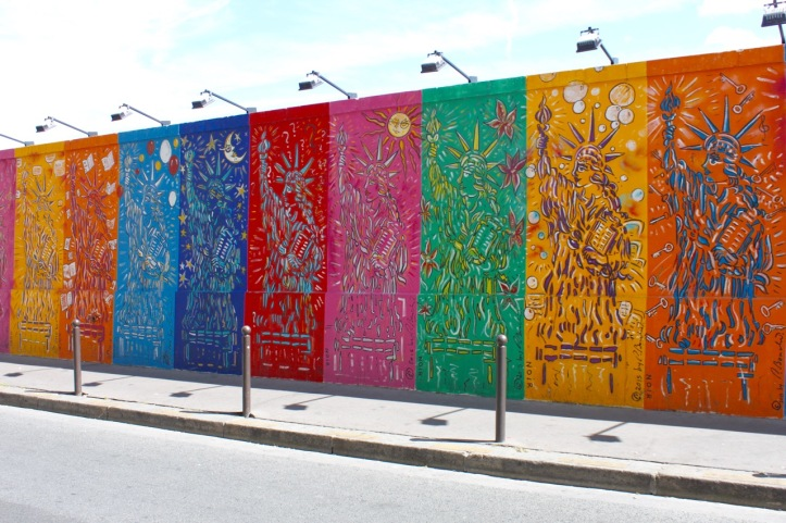 Mur de Berlin rue d Alsace Paris - 2
