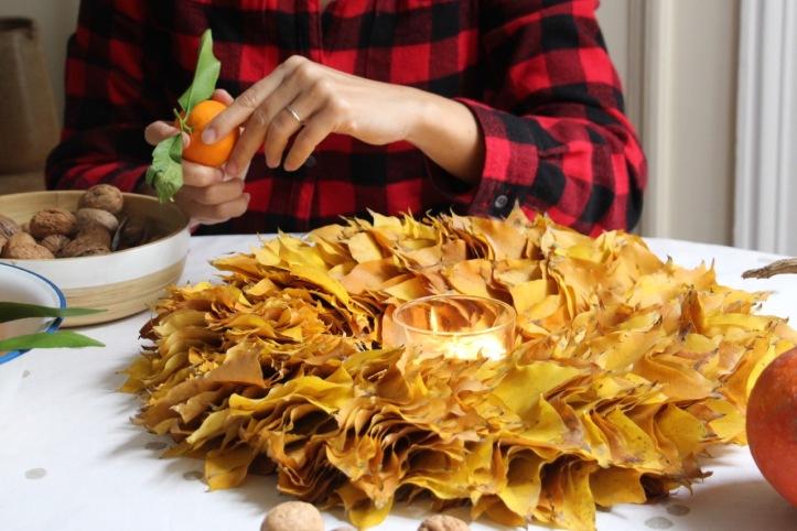 DIY couronne Thanksgiving - 13